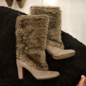 Sam Edelman Grey Fur Boots